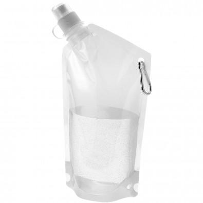 Cabo 600 ml Wasserbeutel mit Karabiner, transparent klar
