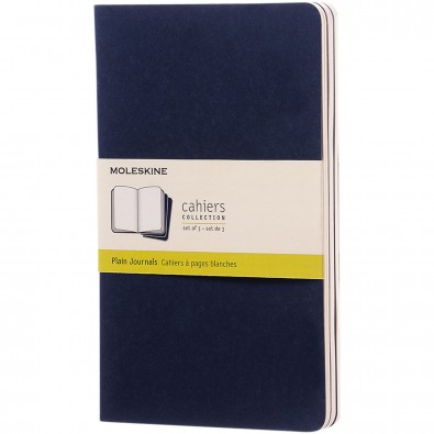 Moleskine Cahier Journal L – blanko, indigoblau