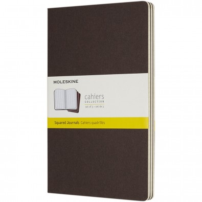 Moleskine Cahier Journal L – kariert, Coffee Brown