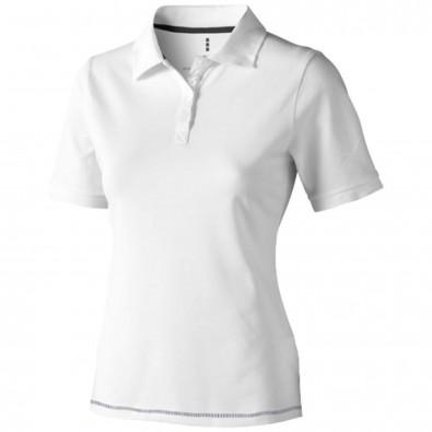 Calgary Poloshirt für Damen, weiss,navy, M