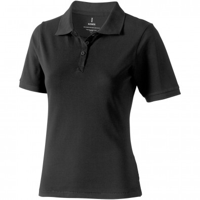Calgary Poloshirt für Damen, anthrazit, L