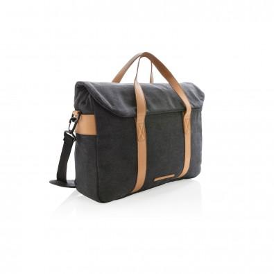 Canvas Laptop-Tasche PVC frei, schwarz