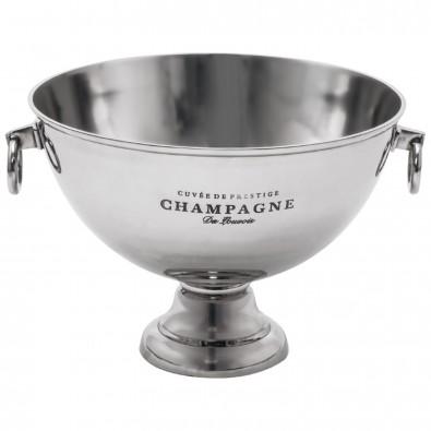 Champagner Kühler aus massiven Metall, grau