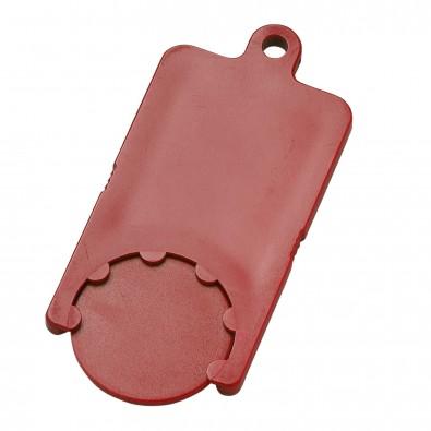 Chip-Schlüsselanhänger Rectangle, standard-rot
