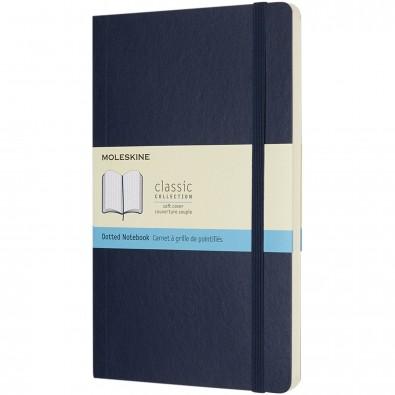 Moleskine Classic Softcover Notizbuch L – gepunktet, saphir