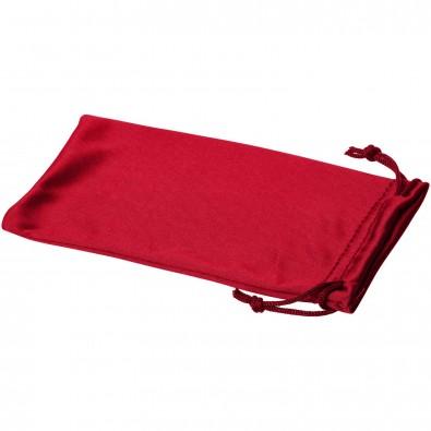 Clean Mikrofaserbeutel für Sonnenbrillen, rot