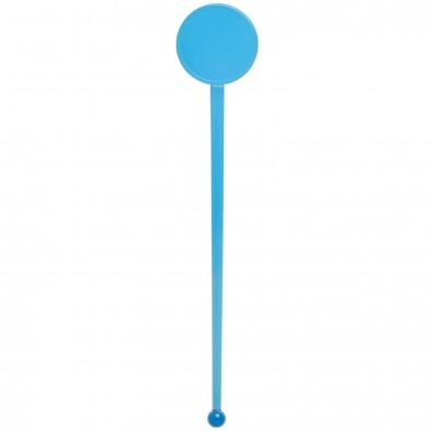 Cocktail-Rührstab Rund, transparent-blau