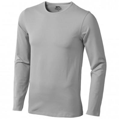 Curve – Langarmshirt für Herren, grau, XXL