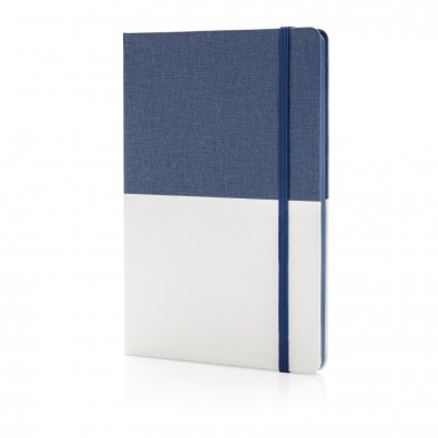 Deluxe DIN A5 PU Notizbuch, blau,weiß
