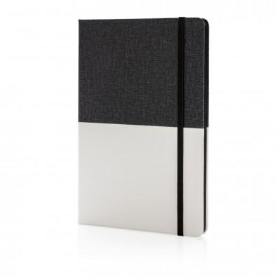 Deluxe DIN A5 PU Notizbuch, schwarz,weiß