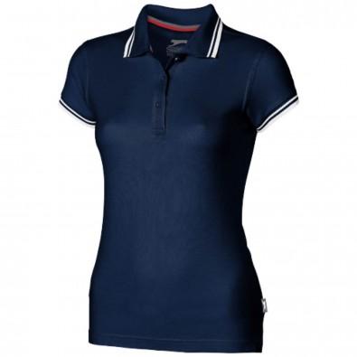 Deuce – Poloshirt mit weißem Rand für Damen, navy, M