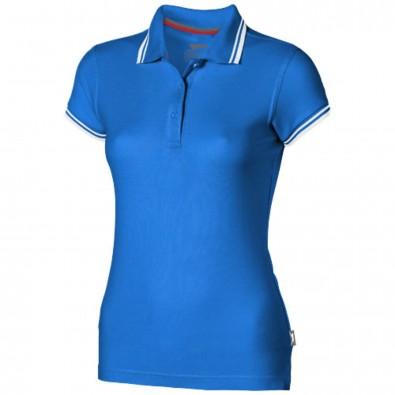 Deuce – Poloshirt mit weißem Rand für Damen, himmelblau, XL