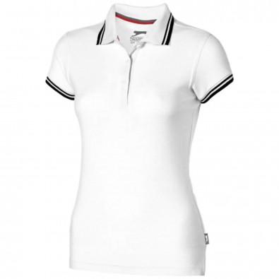 Deuce Poloshirt mit weißem Rand für Damen, weiss, XL