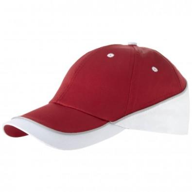 Draw Kappe mit 6 Segmenten, rot,weiss