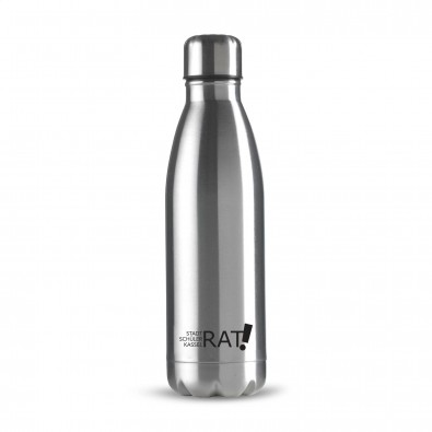 Edelstahl Trinkflasche Design 500ml, Silber