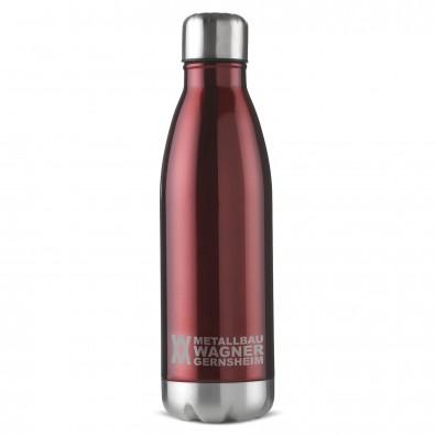 Edelstahl Trinkflasche Design 500ml, Rot