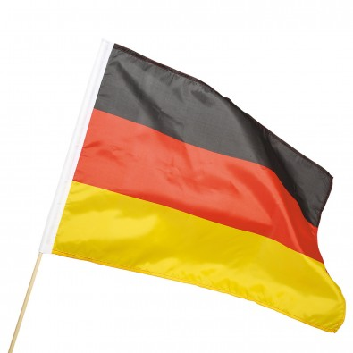 """Fahne """"Holzstab"""", Deutschland-Farben"""