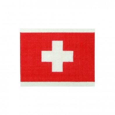 Fantape Rechteck einzeln, Schweiz-Farben