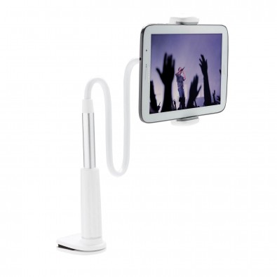 flexibler Smartphone und Tablethalter, weiß