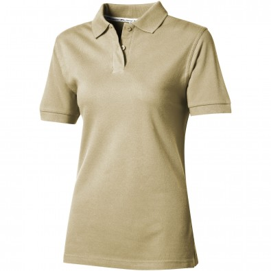 Forehand Damen Poloshirt, khaki, M