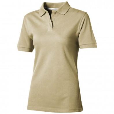 Forehand Damen Poloshirt, khaki, S