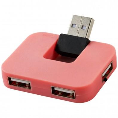 Gaia USB Hub mit 4 Anschlüssen, rosa