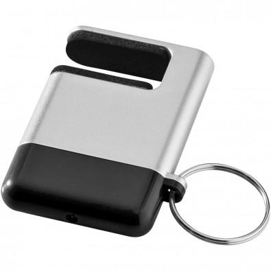 Gogo Bildschirmreiniger und Smartphone-Halter, silber,schwarz