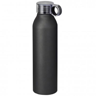 Grom 650 ml Aluminium Sportflasche, schwarz