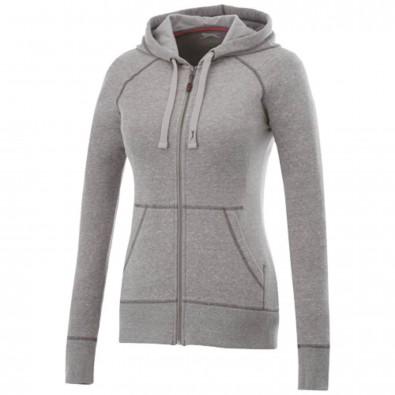 Groundie Kapuzensweatjacke für Damen, grau meliert, XS