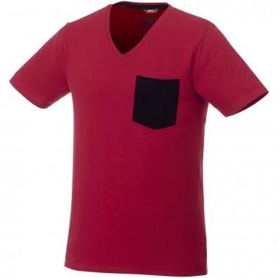Gully T-Shirt mit Tasche für Herren, dunkelrot,navy, XL