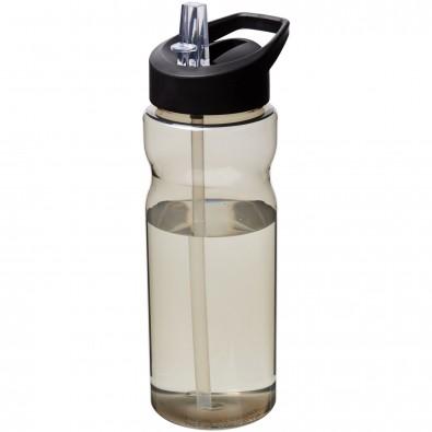 H2O Eco 650 ml Sportflasche mit Ausgussdeckel, Charcoal,schwarz