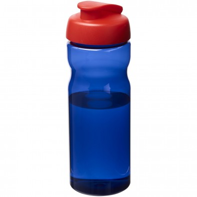 H2O Eco 650 ml Sportflasche mit Klappdeckel, royalblau,rot