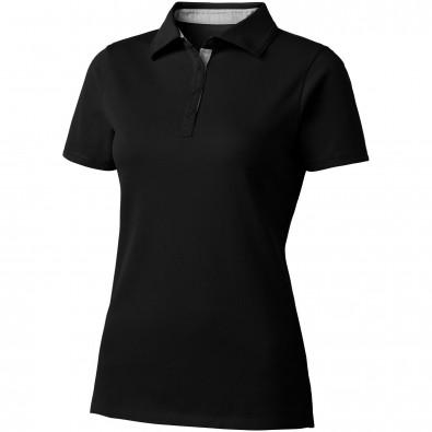 Hacker Poloshirt für Damen, schwarz,grau, M