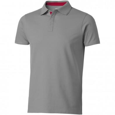Hacker Poloshirt für Herren, grau,rot, L
