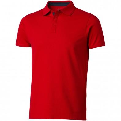 Hacker Poloshirt für Herren, rot,navy, S
