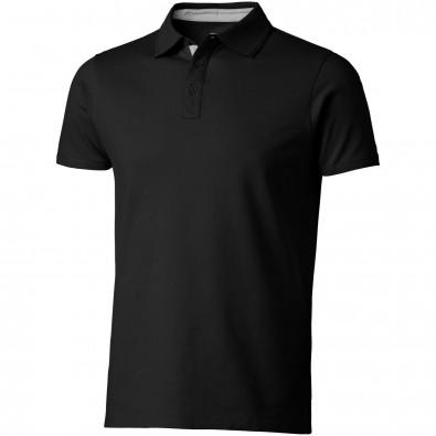 Hacker Poloshirt für Herren, schwarz,grau, S