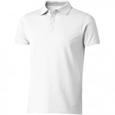 Hacker Poloshirt, weiss,grau, S