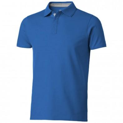 Hacker Poloshirt, himmelblau,grau, S