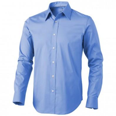 Hamilton Langarm Hemd, hellblau, M