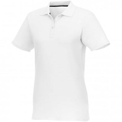 Helios Kurzarm Poloshirt für Damen, weiss, 4XL