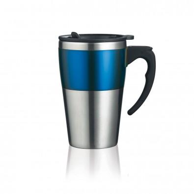 Highland Isolierbecher, blau,silber