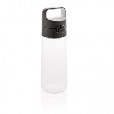 Hydrate auslaufsichere Tritanflasche, transparent, anthrazit