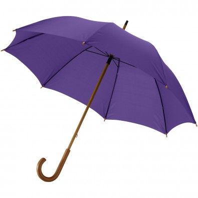 """Jova 23"""" Regenschirm mit Holzstange und -griff, flieder"""