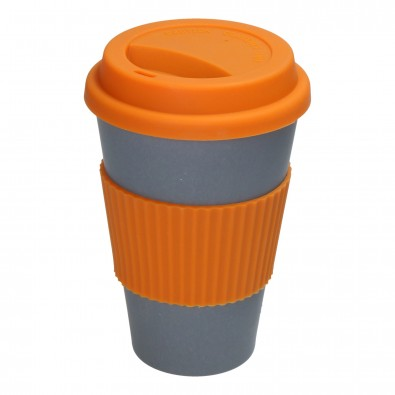 "Kaffeebecher ""Eco"", anthrazit/orange"