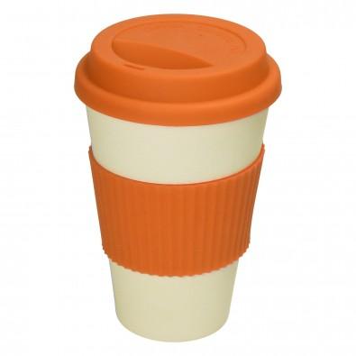 "Kaffeebecher ""Eco"", beige/orange"