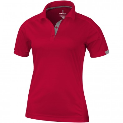 ELEVATE Damen Poloshirt Kiso cool fit, rot, XS