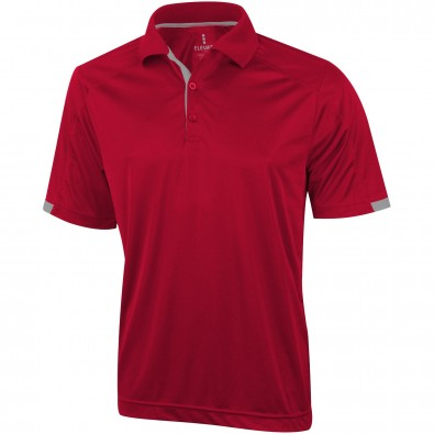 Kiso – Stretch-Poloshirt cool fit für Herren, rot, S