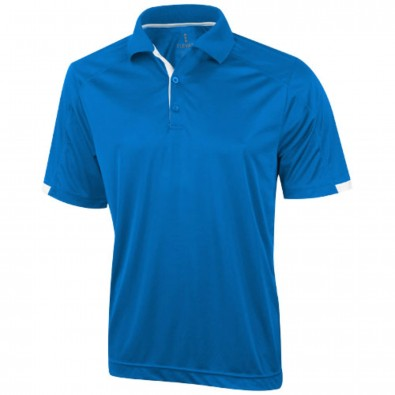 Kiso – Stretch-Poloshirt cool fit für Herren, blau, L