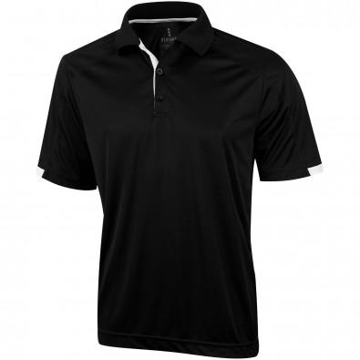 Kiso Poloshirt cool fit für Herren, schwarz, XL