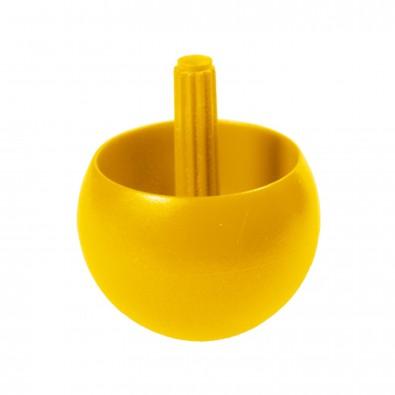 Kreisel Stehauf klein, standard-gelb